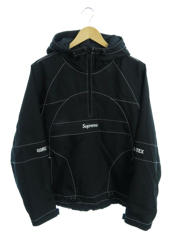【Supreme】【GORE-TEX Contrast Stitch Anorak】シュプリーム『ハーフジッププルオーバーパーカー sizeS』19FW メンズ 1週間保証【中古】