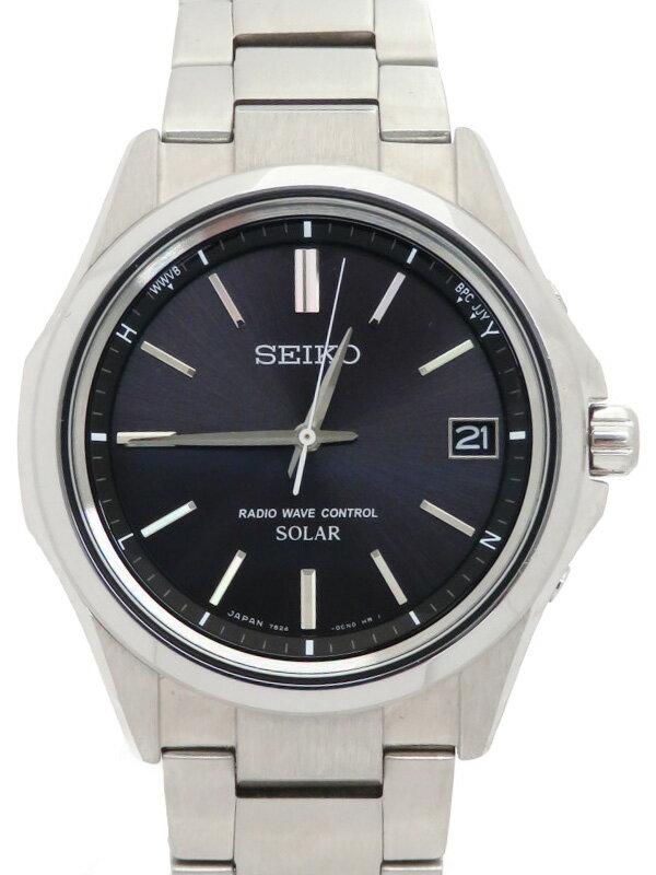 【SEIKO】セイコー『セレクション』SBTM241 73****番 メンズ ソーラー電波クォーツ 1週間保証【中古】