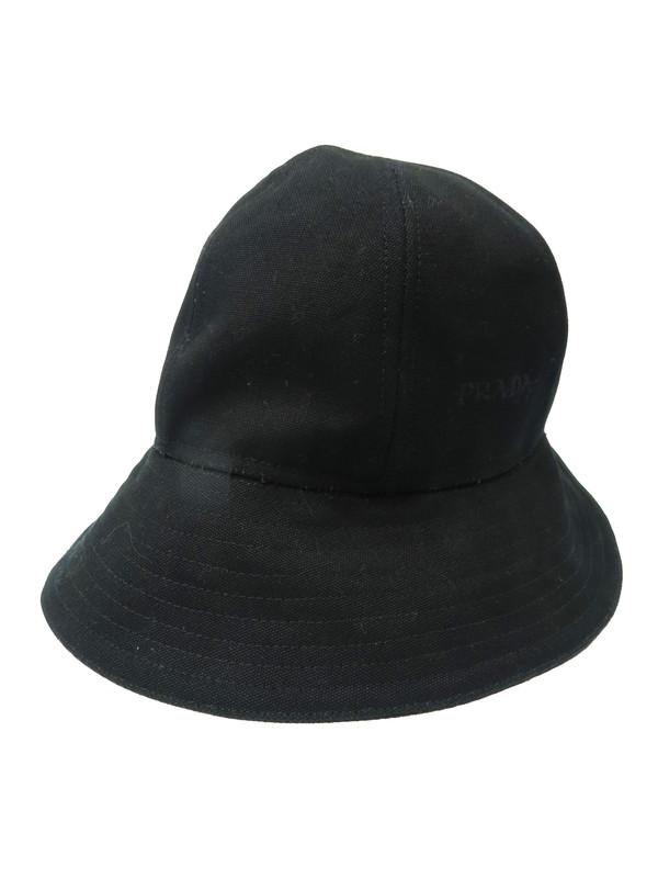 【PRADA】【イタリア製】プラダ『ハット sizeM』レディース 帽子 1週間保証【中古】