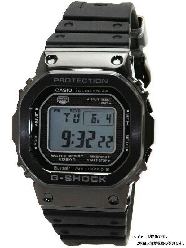 【CASIO】【G-SHOCK】【スマートフォンリンク】カシオ『Gショック』GMW-B5000G-1JF ボーイズ ソーラー電波クォーツ 1週間保証【中古】