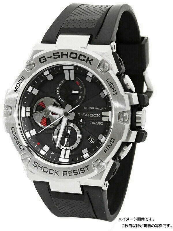 【CASIO】【G-SHOCK】【海外モデル】カシオ『Gショック Gスチール』GST-B100-1AJF メンズ  ソーラークォーツ 1週間保証【中古】