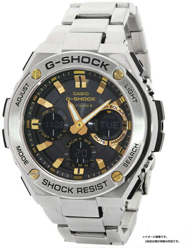 【CASIO】【G-SHOCK】カシオ『Gショック Gスチール』GST-W110D-1A9 メンズ ソーラー電波クォーツ 1週間保証【中古】