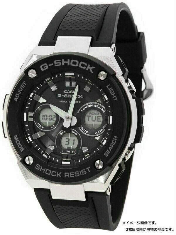 【CASIO】【G-SHOCK】カシオ『Gショック Gスチール』GST-W300-1A メンズ ソーラー電波クォーツ 1週間保証【中古】