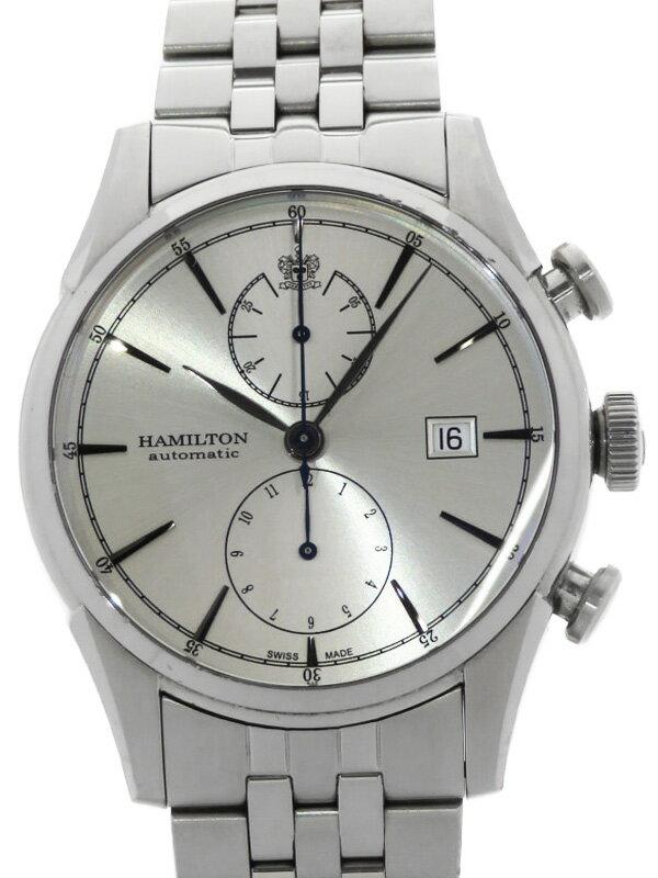 【HAMILTON】【裏スケ】【内部点検済】ハミルトン『スピリット オブ リバティ クロノグラフ』H32416981 メンズ 自動巻き 1ヶ月保証【中古】