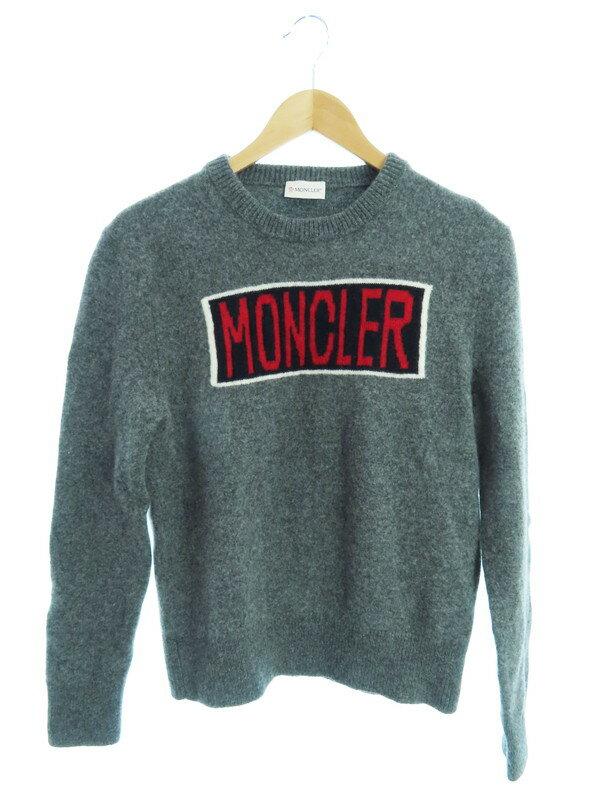 【MONCLER】【ルーマニア製】【トップス】モンクレール『MAGLIONE TRICOT GIROCOLLO 長袖ニット sizeM』2019 メンズ セーター 1週間保証【中古】