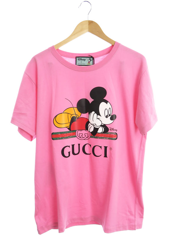 【GUCCI】【オーバーサイズTシャツ】【ディズニー】【イタリア製】グッチ『半袖Tシャツ sizeM』492347 XJB7W 20SS レディース カットソー 1週間保証【中古】