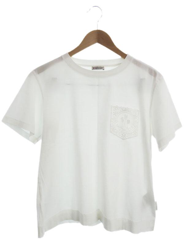 【MONCLER】【ルーマニア製】【トップス】モンクレール『T-SHIRT GIROCOLLO 半袖Tシャツ sizeM』2018 レディース カットソー 1週間保証【中古】