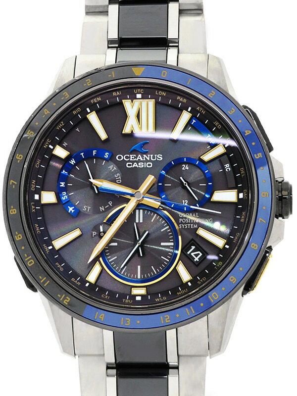【CASIO】【OCEANUS】【世界限定1000本】カシオ『オシアナス』OCW-G1200D-1AJF メンズ ソーラー電波GPS 1ヶ月保証【中古】
