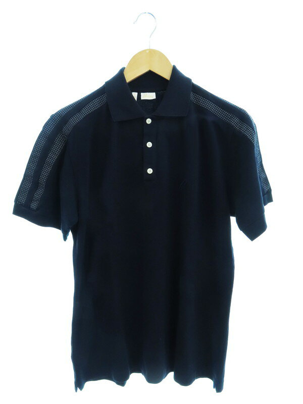 【Brioni】【イタリア製】【トップス】ブリオーニ『切替半袖ポロシャツ sizeL』メンズ 1週間保証【中古】