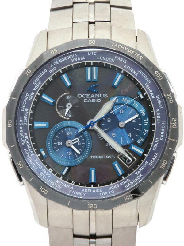 【CASIO】【OCEANUS】カシオ『オシアナス マンタ』OCW-S1400D-2 メンズ ソーラー電波クォーツ 1週間保証【中古】