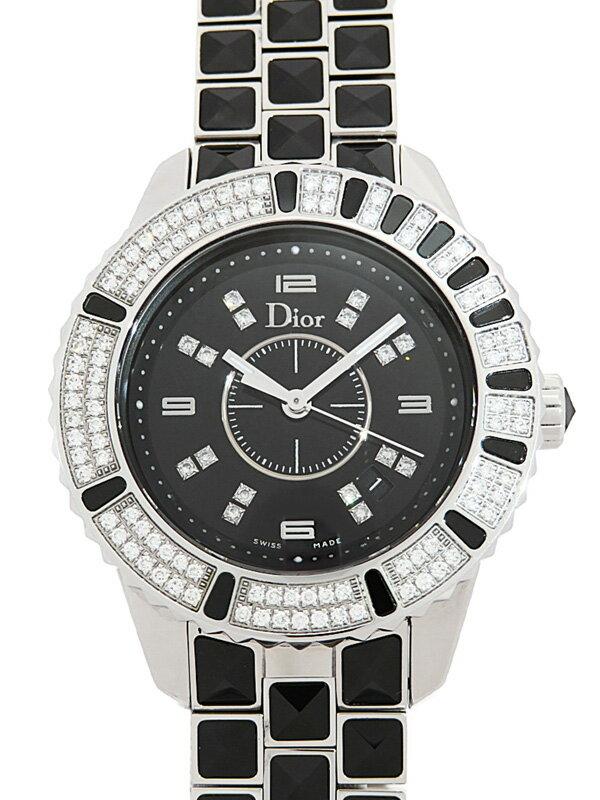 【Dior】【電池交換済】ディオール『クリスタル ダイヤモンド』CD113119M001 レディース 1ヶ月保証【中古】