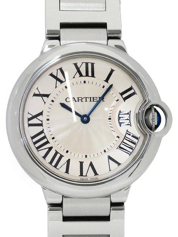 【Cartier】【電池交換済】カルティエ『バロンブルーMM』W69011Z4 メンズ クォーツ 3ヶ月保証【中古】