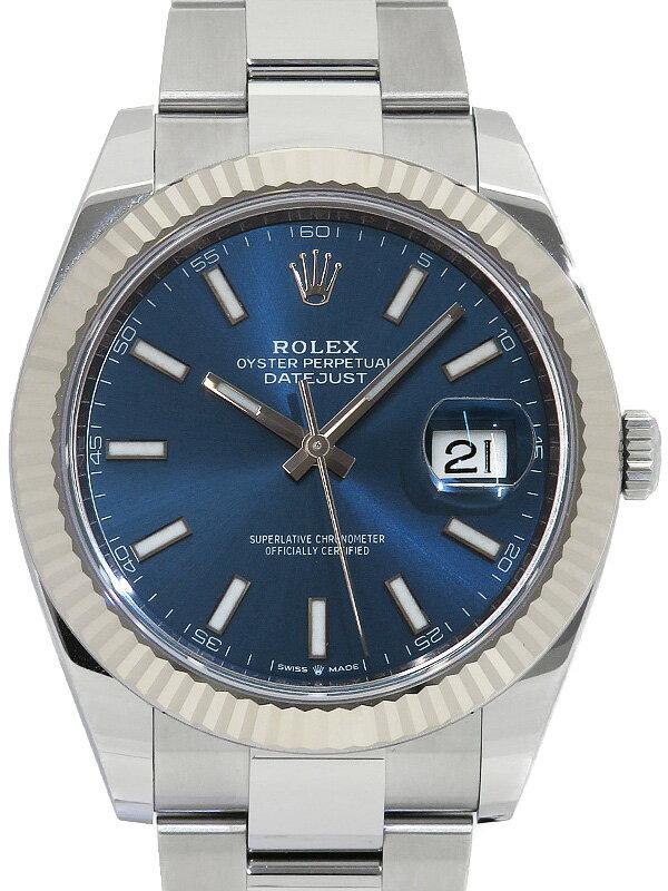 【ROLEX】ロレックス『デイトジャスト41』126334 ランダム番 メンズ 自動巻き 12ヶ月保証【中古】