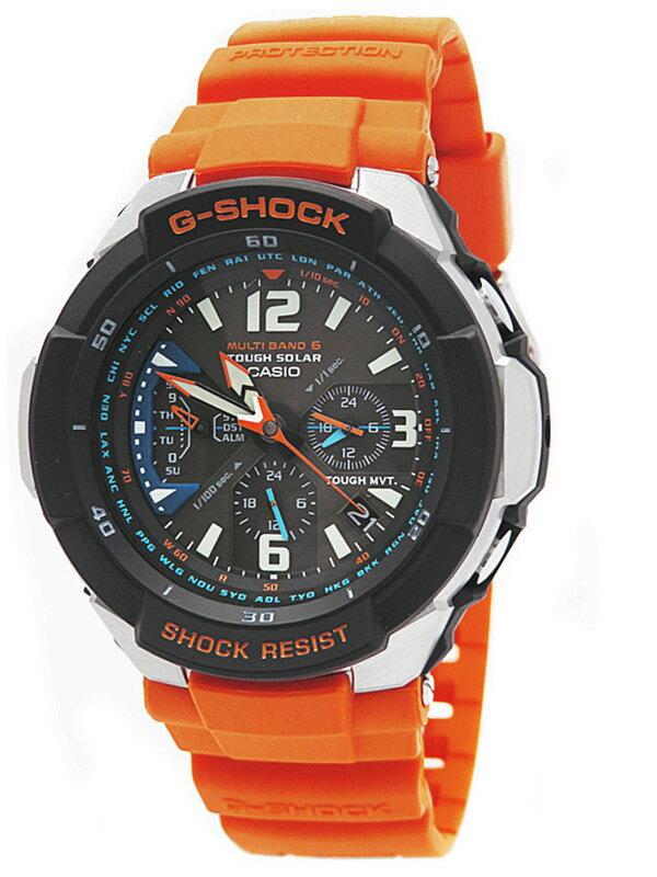 【CASIO】【G-SHOCK】【海外モデル】カシオ『Gショック スカイコックピット』GW-3000M-4A メンズ ソーラー電波クォーツ 1週間保証【中古】