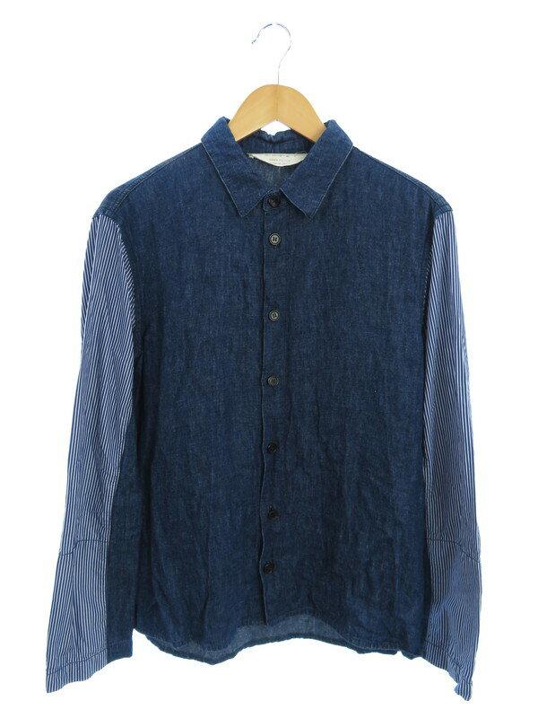 【MARNI】【イタリア製】【トップス】マルニ『長袖デニム切替シャツ sizeS』メンズ 1週間保証【中古】