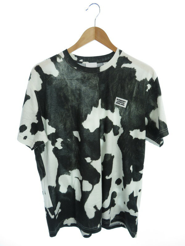 【BURBERRY】【カウプリント】バーバリー『総柄半袖Tシャツ sizeS P』8016266 メンズ カットソー 1週間保証【中古】