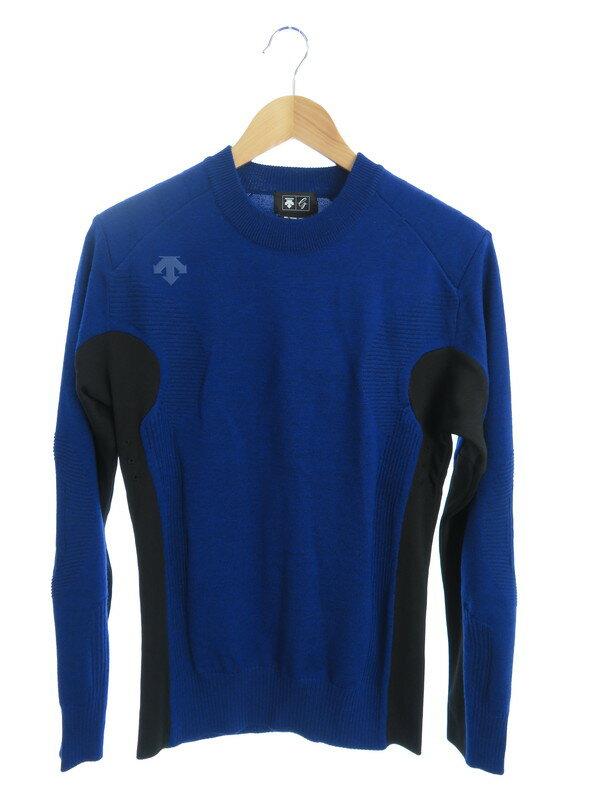 【DESCENTE】【g-arc】【トップス】デサント『長袖切替ニット sizeM』DGM0JL01 メンズ セーター 1週間保証【中古】