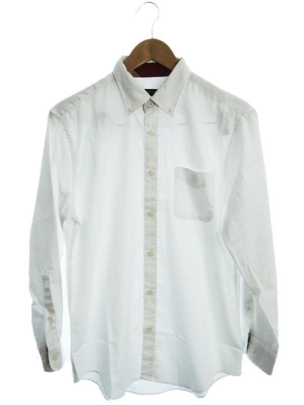 【BLACK LABEL CRESTBRIDGE】【トップス】ブラックレーベルクレストブリッジ『長袖ボタンダウンシャツ sizeM』51M02-601-02 メンズ 1週間保証【中古】