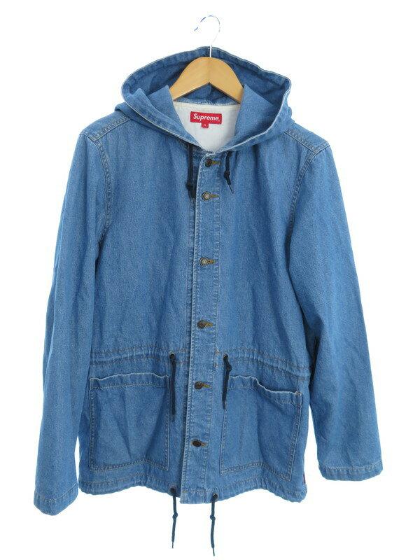 【Supreme】【Hooded Denim Parka】【アウター】シュプリーム『フード付デニムジャケット sizeS』メンズ 1週間保証【中古】