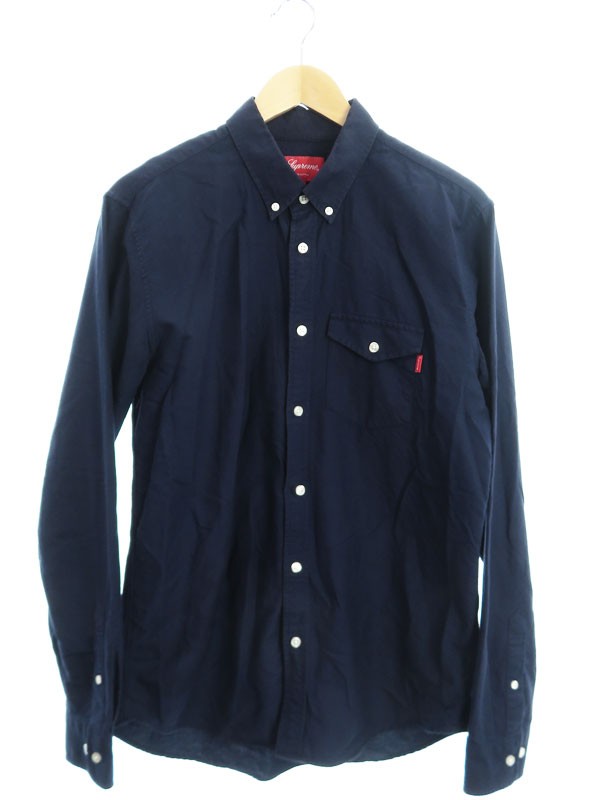 【Supreme】【ポルトガル製】【トップス】シュプリーム『長袖ボタンダウンシャツ sizeM』メンズ 1週間保証【中古】