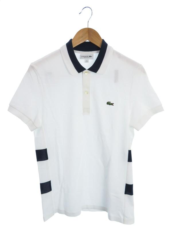 【LACOSTE】【サイドボーダーポロ】【トップス】ラコステ『半袖ポロシャツ size2』PH4267L メンズ 1週間保証【中古】