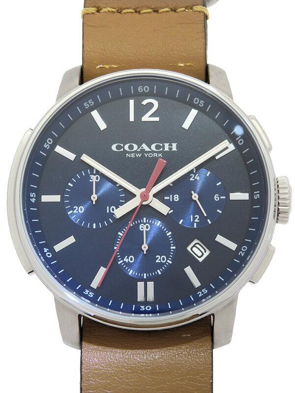 【COACH】コーチ『ブリーカー クロノグラフ』14602018 メンズ クォーツ 1週間保証【中古】
