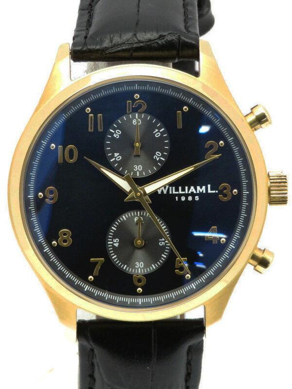 【WILLIAM L】ウィリアムエル『クロノグラフ 40mm』メンズ クォーツ 1週間保証【中古】