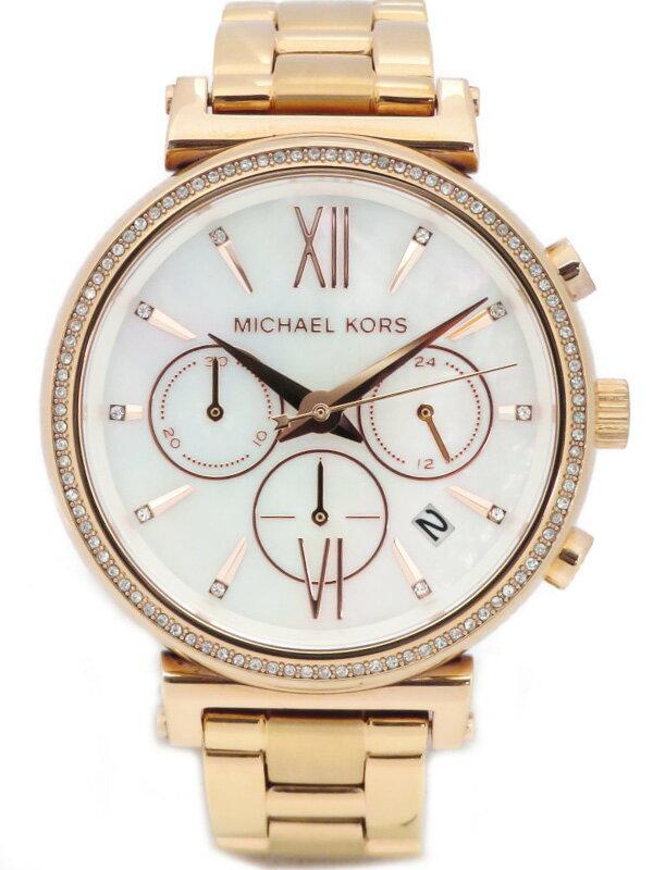 【MICHAEL KORS】マイケルコース『ソフィ— クロノグラフ』MK6576 メンズ クォーツ 1週間保証【中古】