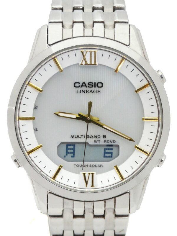 【CASIO】カシオ『リニエージ』LCW-M180-7A メンズ ソーラー電波クォーツ 1週間保証【中古】