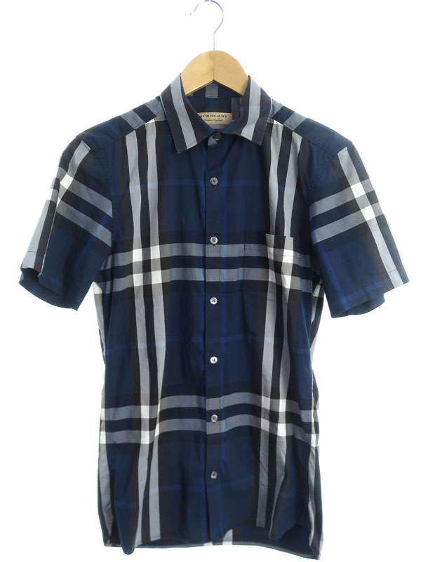 【BURBERRY】【トップス】バーバリー『チェック柄 半袖シャツ sizeXS TP』4003936 メンズ 1週間保証【中古】