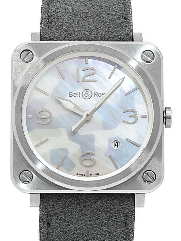 【Bell&Ross】【電池交換済】ベルアンドロス『BRS GREY カモフラージュ』BRS-CAMO-ST/SF メンズ クォーツ 3ヶ月保証【中古】