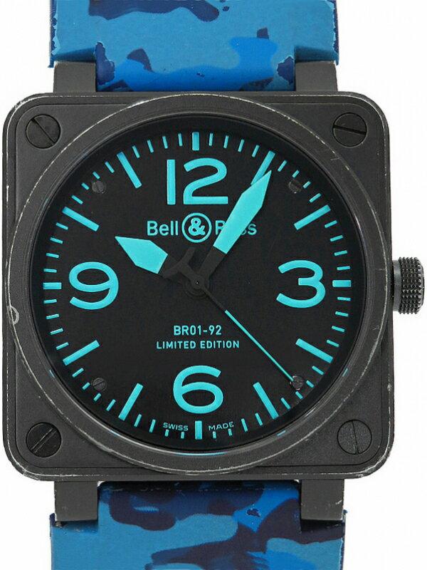 【Bell&Ross】【世界限定500本】ベルアンドロス『BR01-92』BR01-92BLUE-H メンズ 自動巻き 3ヶ月保証【中古】