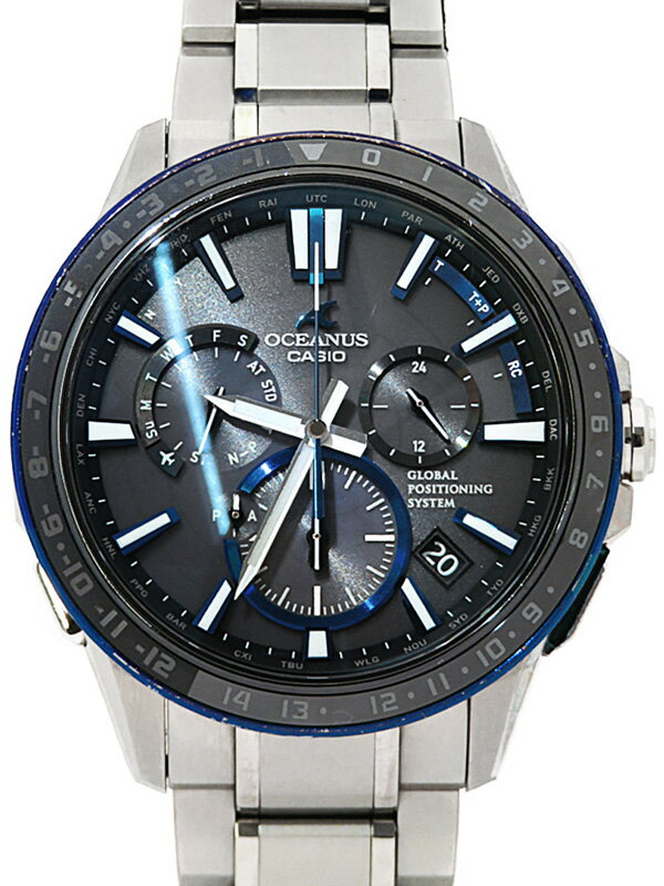 【CASIO】【OCEANUS】カシオ『オシアナス』OCW-G1200-1A メンズ ソーラー電波GPS 1ヶ月保証【中古】