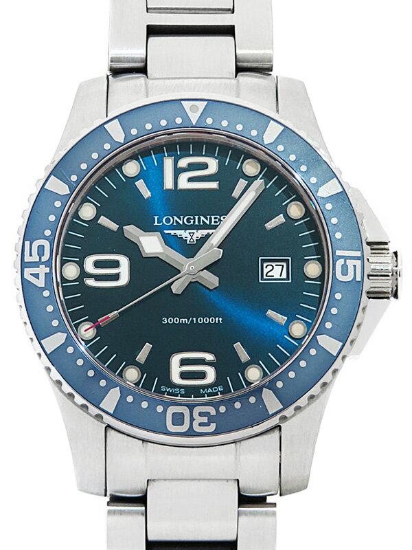 【LONGINES】ロンジン『ハイドロコンクエスト』L3.640.4.96.6 メンズ クォーツ 1週間保証【中古】