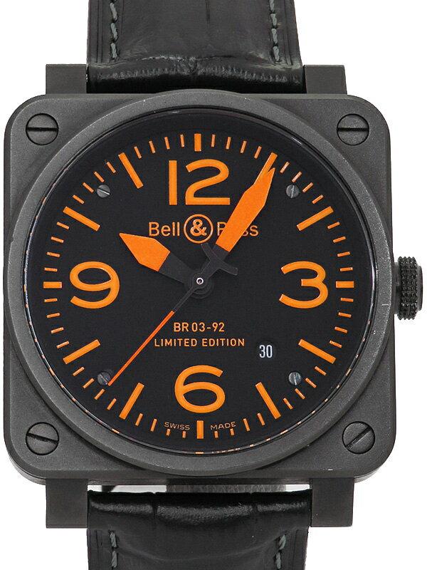 【Bell&Ross】【世界限定250本】ベルアンドロス『BR03-92 オレンジ』BR03-92 ORANGE メンズ 自動巻き 3ヶ月保証【中古】