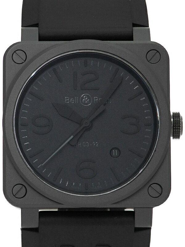 【Bell&Ross】【'19年購入】ベルアンドロス『BR03-92 ブラックアウト』BR0392 メンズ 自動巻き 3ヶ月保証【中古】
