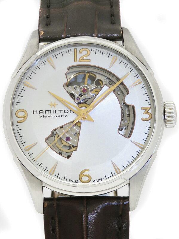 【HAMILTON】【裏スケ】ハミルトン『ジャズマスター オープンハート42mm』H32705551 メンズ 自動巻き 1ヶ月保証【中古】