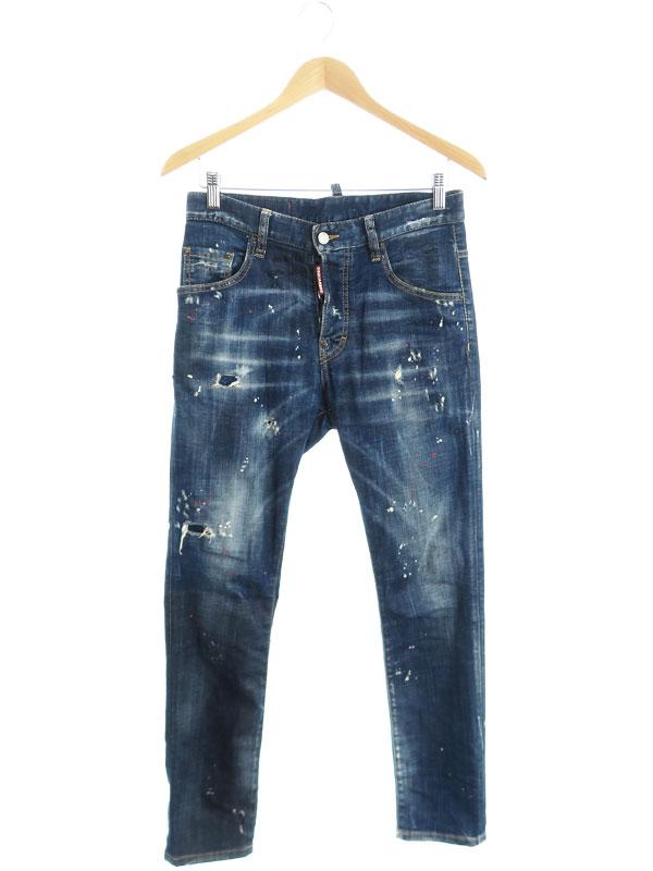 【DSQUARED2】【Skater Jean】【イタリア製】ディースクエアード『ジーンズ size42』S74LB0593 S30342 2019AW メンズ デニムパンツ 1週間保証【中古】