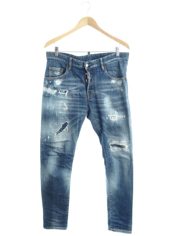 【DSQUARED2】【Skater Jean】【イタリア製】【ジーパン】ディースクエアード『ジーンズ size50』S71LB0720 S30664 メンズ デニムパンツ 1週間保証【中古】