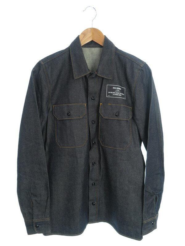 【Ron Herman】【xe Denim】【日本製】【トップス】ロンハーマン『長袖デニムシャツ sizeS』EDRH-17SS-004 メンズ 1週間保証【中古】