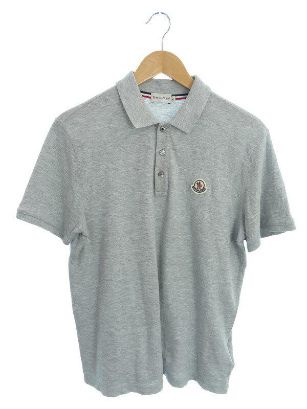 【MONCLER】【トップス】モンクレール『MAGLIA POLO MANICA CORTA 半袖ポロシャツ sizeL』メンズ 1週間保証【中古】