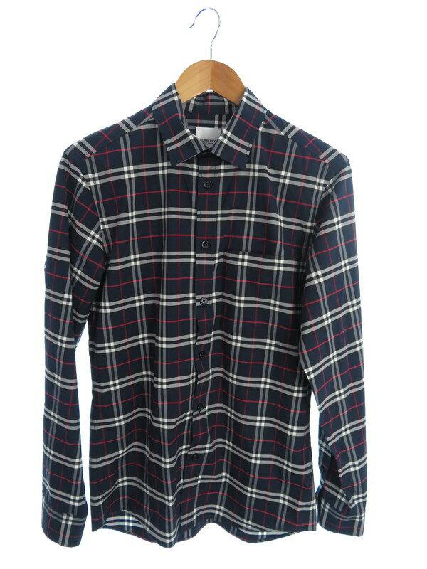 【BURBERRY】【トップス】バーバリー『チェック柄長袖シャツ sizeS P』8018640 メンズ 1週間保証【中古】