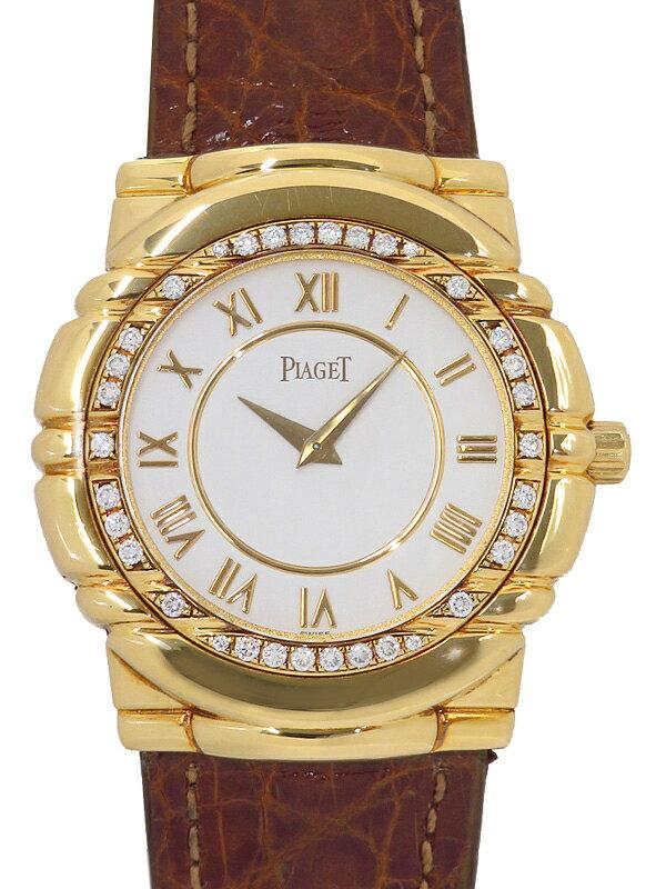 【PIAGET】【YGケース】【OH済】ピアジェ『タナグラ ベゼルダイヤ』95043 メンズ 手巻き 3ヶ月保証【中古】
