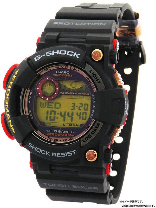 【CASIO】【G-SHOCK】【'19年購入】カシオ『Gショック フロッグマン マグマオーシャン』GWF-1035F-1JR メンズ ソーラー電波クォーツ 1ヶ月保証【中古】