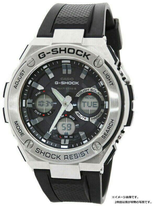 【CASIO】【G-SHOCK】カシオ『Gショック Gスチール』GST-W110-1A メンズ ソーラー電波クォーツ 1週間保証【中古】