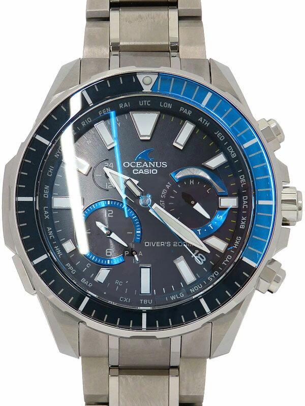 【CASIO】【OCEANUS】【モバイルリンク】カシオ『オシアナス カシャロ ダイバーズ』OCW-P2000-1AJF メンズ ソーラー電波クォーツ 3ヶ月保証【中古】