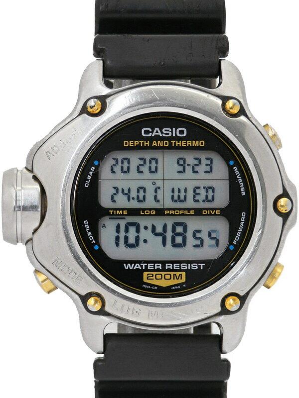 【CASIO】【電池交換済】カシオ『ツインセンサー ログメモリー 潜水王』DEP-600 メンズ クォーツ 1週間保証【中古】