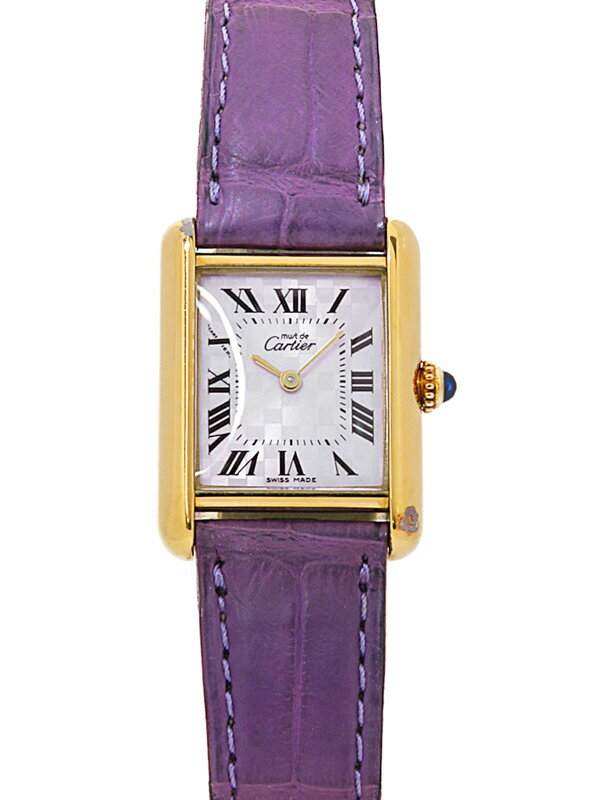 【Cartier】【YGケース】【電池交換済】カルティエ『マストタンク』W1017554 レディース クォーツ 3ヶ月保証【中古】