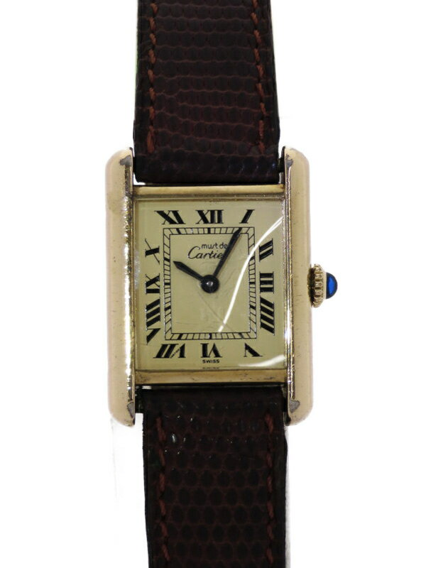【Cartier】【内部点検済】カルティエ『マストタンク ヴェルメイユ SM』レディース 手巻き 1週間保証【中古】