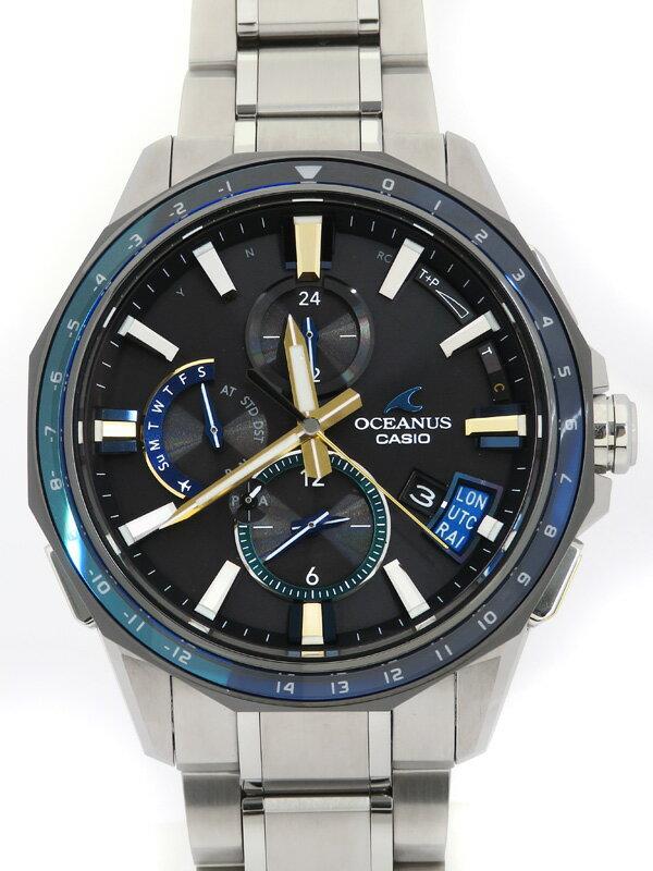 【CASIO】【OCEANUS】【モバイルリンク】【世界限定500本】カシオ『オシアナス』OCW-G2000J-1AJF メンズ ソーラー電波GPS 3ヶ月保証【中古】